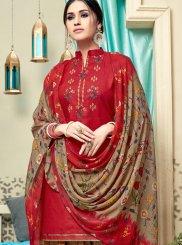 Red Casual Punjabi Suit
