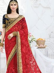 Red Ceremonial Classic Designer Saree