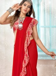 Red Ceremonial Traditional Saree