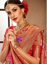 Red Color Designer Bridal Sarees