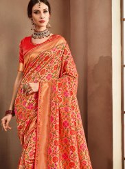 Red Color Designer Bridal Sarees