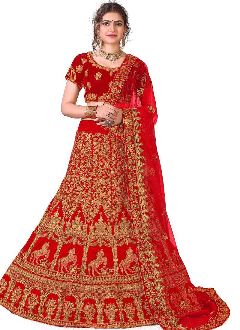 Red Color Designer Lehenga Choli