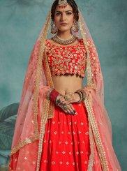 Red Color Trendy Designer Lehenga Choli