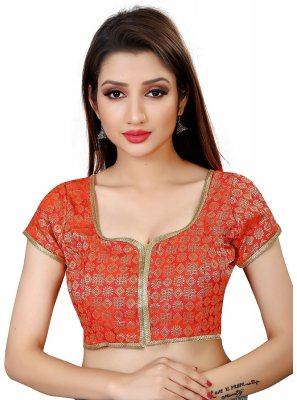 Red Embroidered Designer Blouse