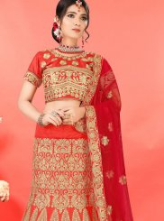 Red Embroidered Designer Lehenga Choli