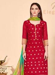 Red Festival Churidar Salwar Suit