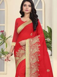 Red Festival Traditional Designer Saree
