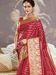 Red Festival Traditional Saree