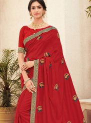 Red Festival Trendy Saree