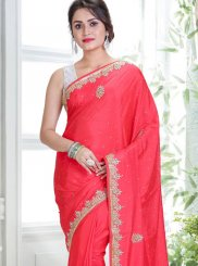 Red Handwork Designer Traditional Saree