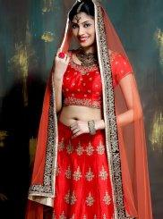 Red Malbari Silk  Sangeet Designer Lehenga Choli