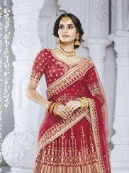 Red Mehndi Designer Lehenga Choli