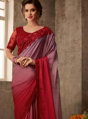 Red Patch Border Silk Traditional Saree