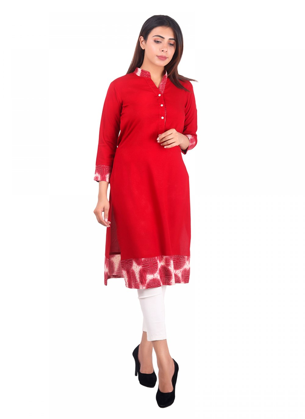 Red Reception Casual Kurti