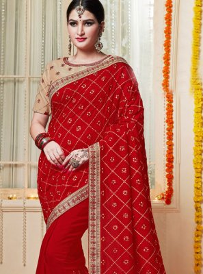 Red Reception Classic Saree