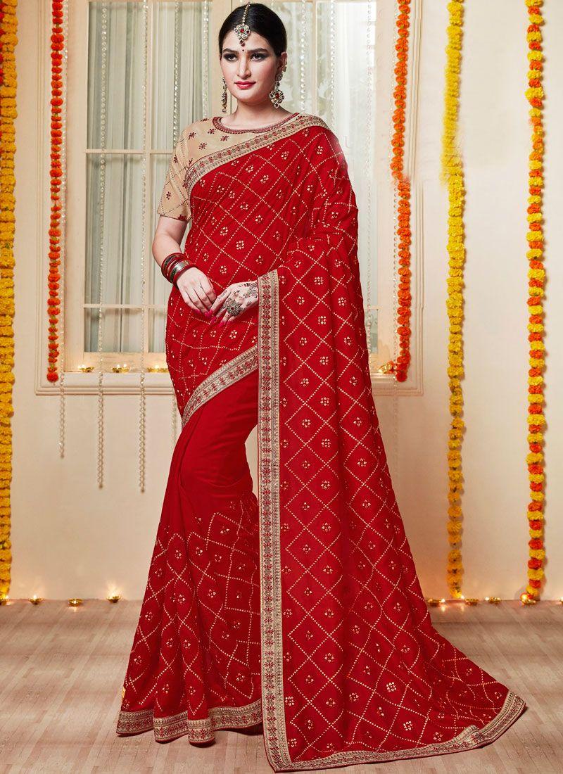 Red Reception Classic Saree