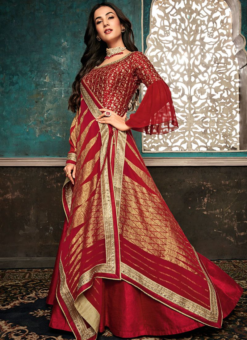 Red Reception Designer Salwar Suit