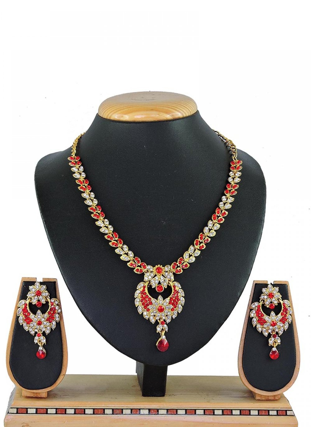 Red Reception Necklace Set