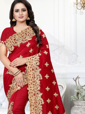 Red Reception Silk Traditional Saree
