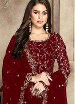 Red Reception Trendy Anarkali Salwar Kameez