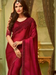 Red Resham Classic Saree