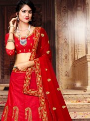 Red Sangeet Art Silk Lehenga Choli