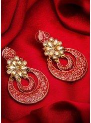 Red Sangeet Ear Rings