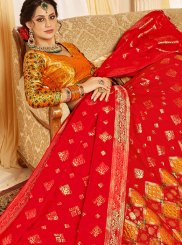 Red Silk Designer Lehenga Choli