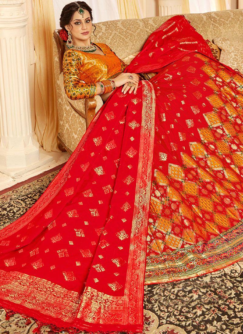 20eaeafc3d Buy Red Silk Designer Lehenga Choli Online -