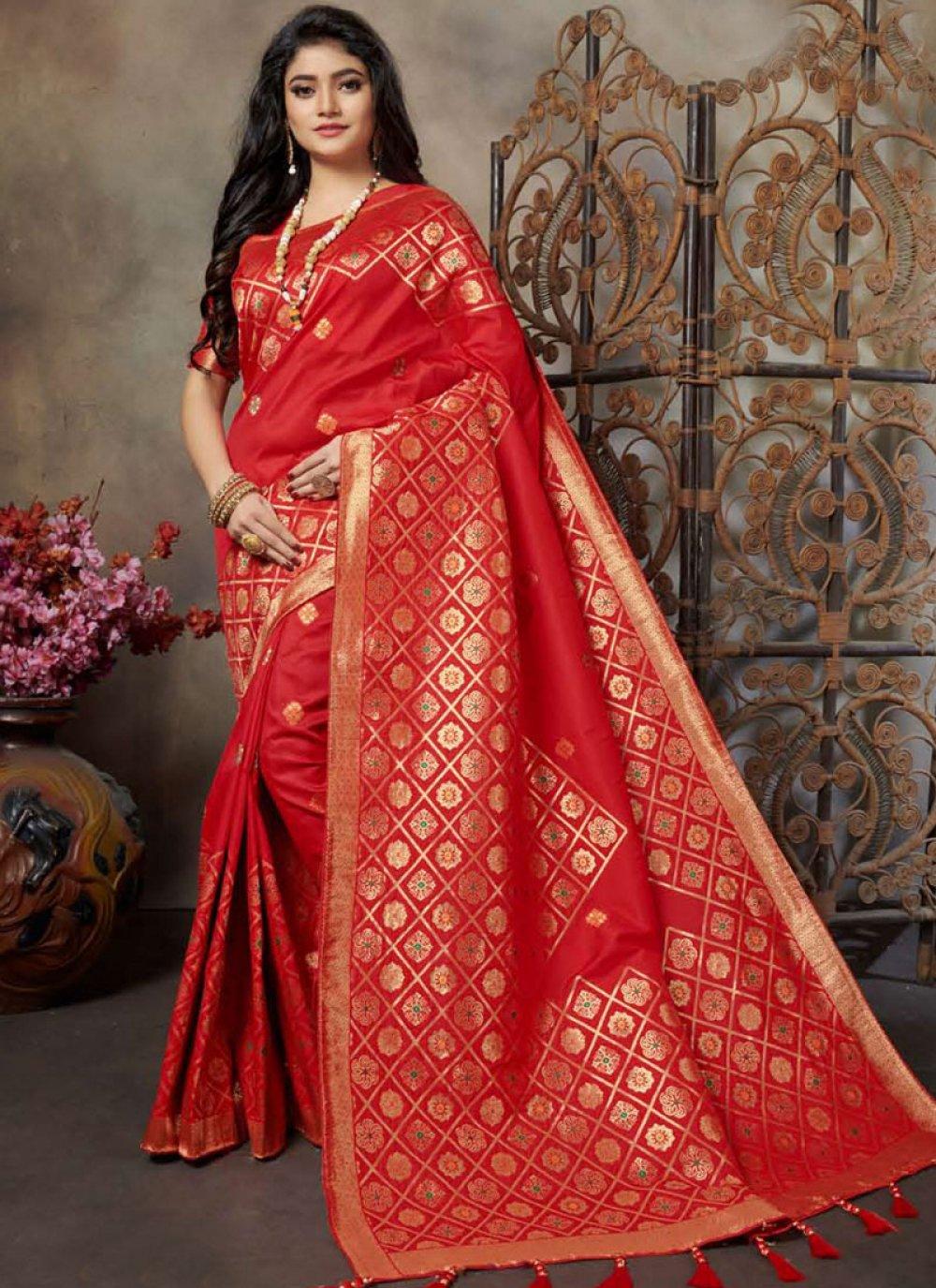 Red Silk Festival Classic Saree