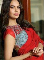 Red Silk Party Classic Designer Saree