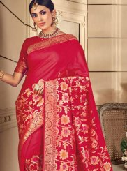 Red Silk Silk Saree