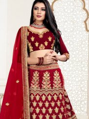Red Stone Work Reception Designer Lehenga Choli