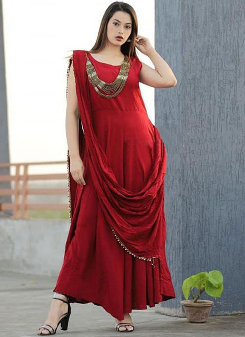 Red Trendy Gown