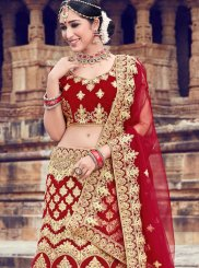 Red Trendy Lehenga Choli