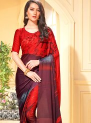 Red Trendy Saree