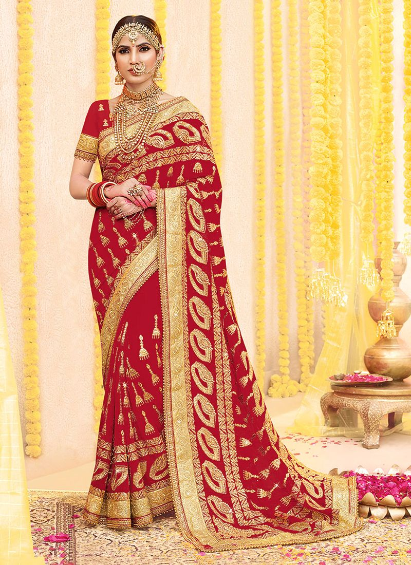 Red Trendy Saree