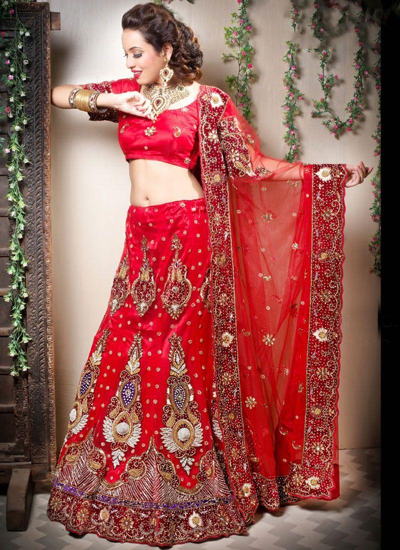 Red Velvet Designer Lehenga Choli