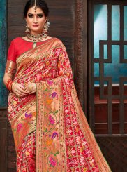 Red Weaving Patola Silk  Traditional Saree