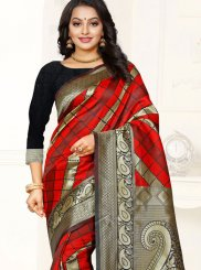 Red Weaving Silk Saree