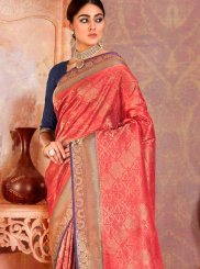Red Weaving Trendy Saree