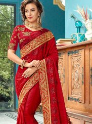 Red Wedding Cotton Silk Designer Traditional Saree