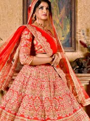 Red Zari Art Silk Designer Lehenga Choli