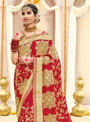 Red Zari Classic Designer Saree