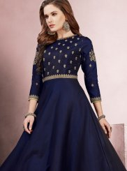 Resham Blue Readymade Gown