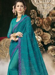 Resham Faux Georgette Saree
