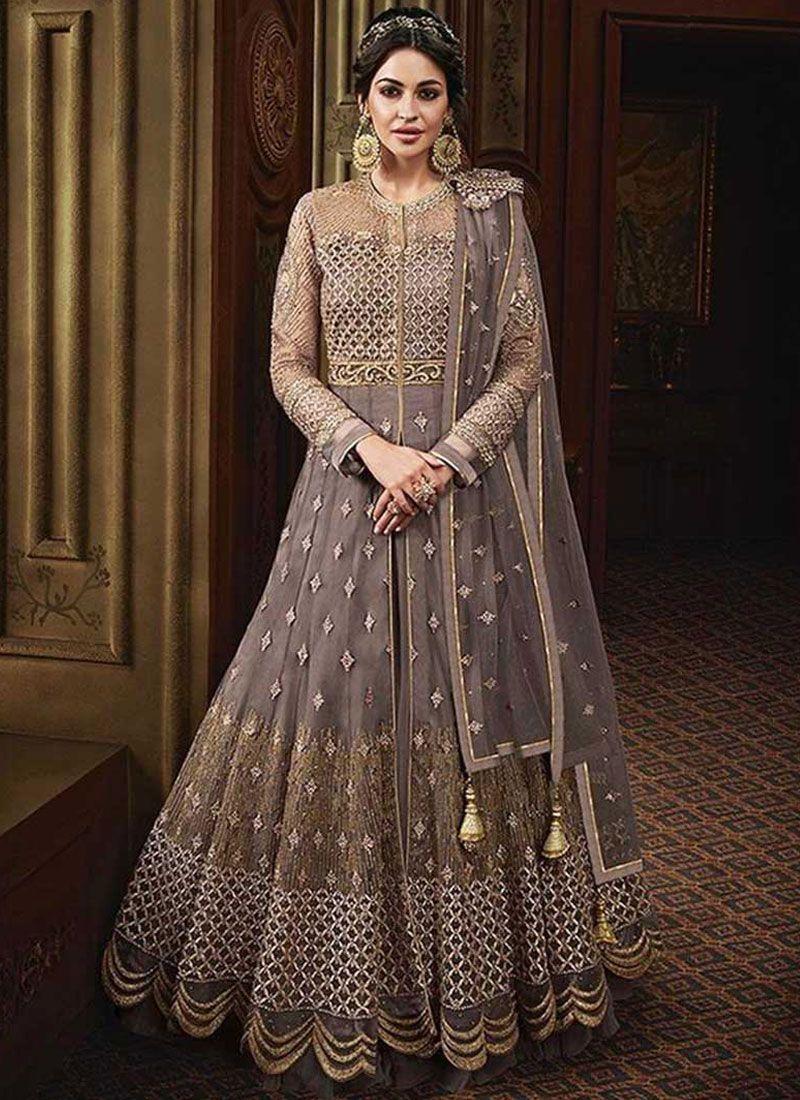 Resham Floor Length Anarkali Suit