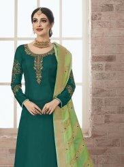Resham Green Designer Pakistani Suit