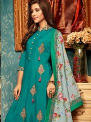 Resham Green Readymade Gown