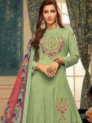 Resham Muslin Readymade Gown